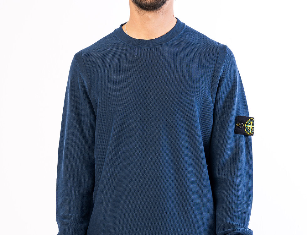 Stone Island Sweater In Navy
