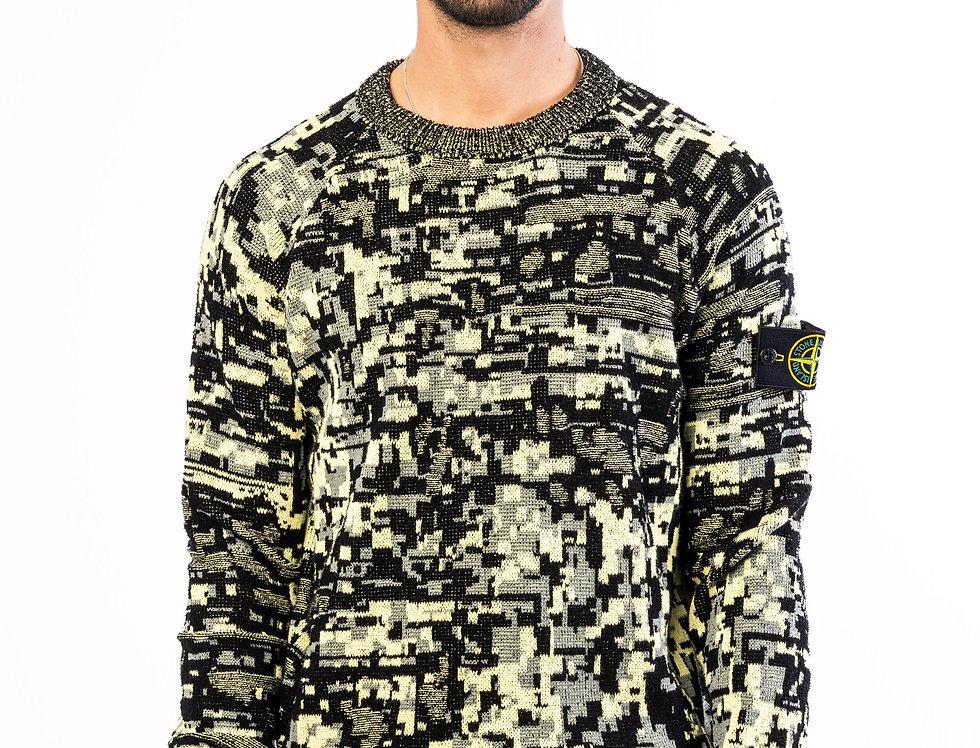 Stone Island Sweater In Digital Camo