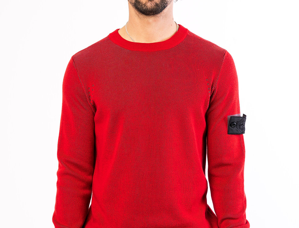 Stone Island Shadow Project Crewneck In Red