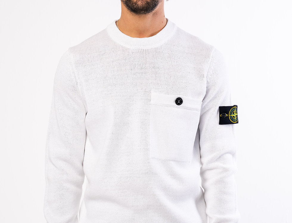 Stone Island Knitted Crewneck In White