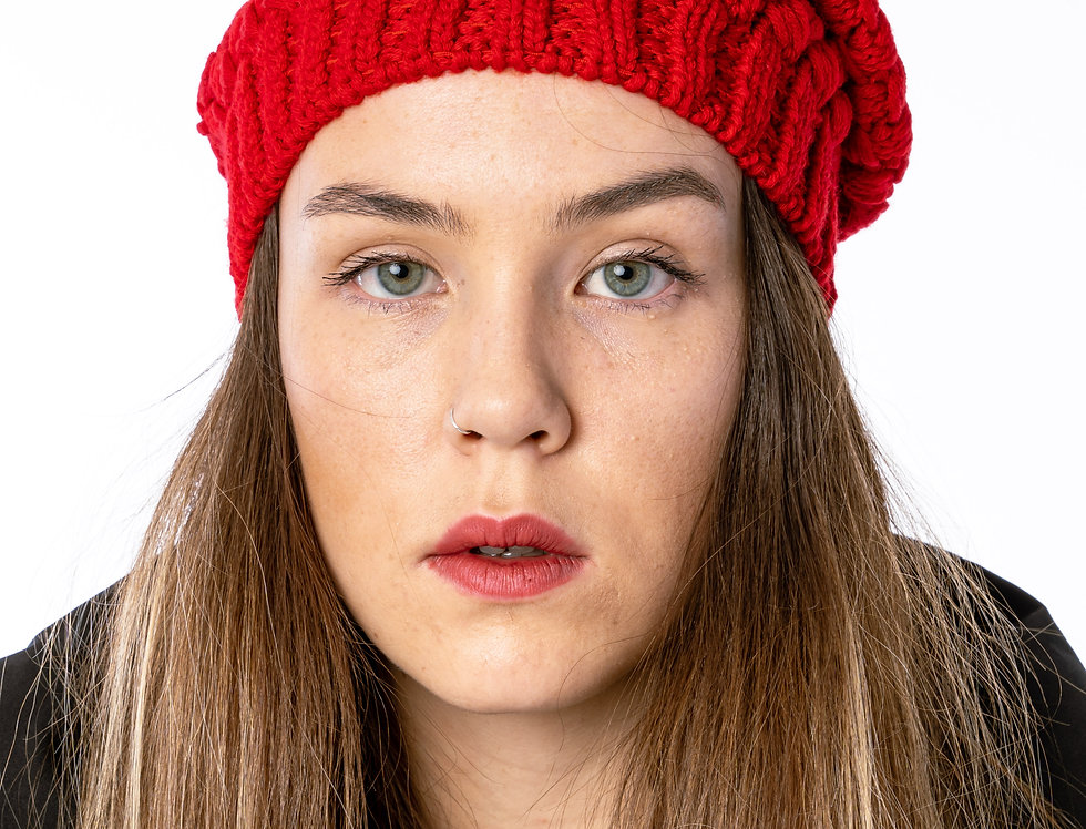 Canada Goose Basket Weave Slouchy In Red