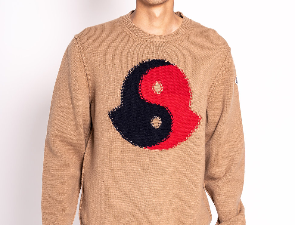 Moncler Knitted Sweater in Brown