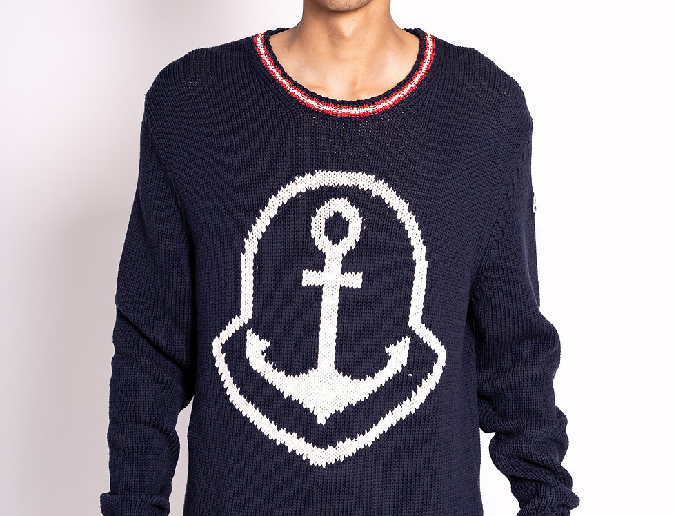 Moncler Knitted Sweater in Navy