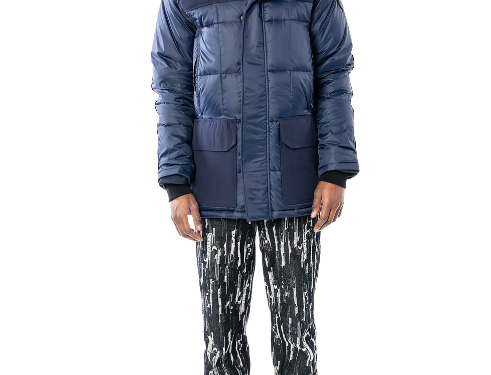 Canada Goose Callaghan Parka In Admiral (Black Label) front view