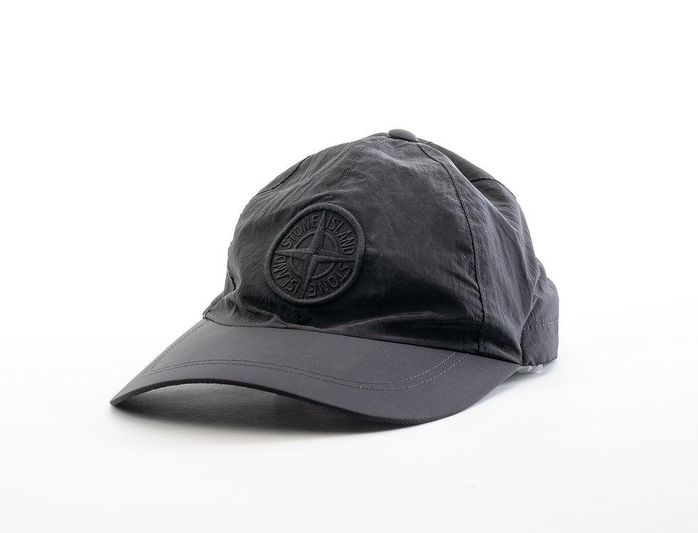 Stone Island Black Nylon Cap