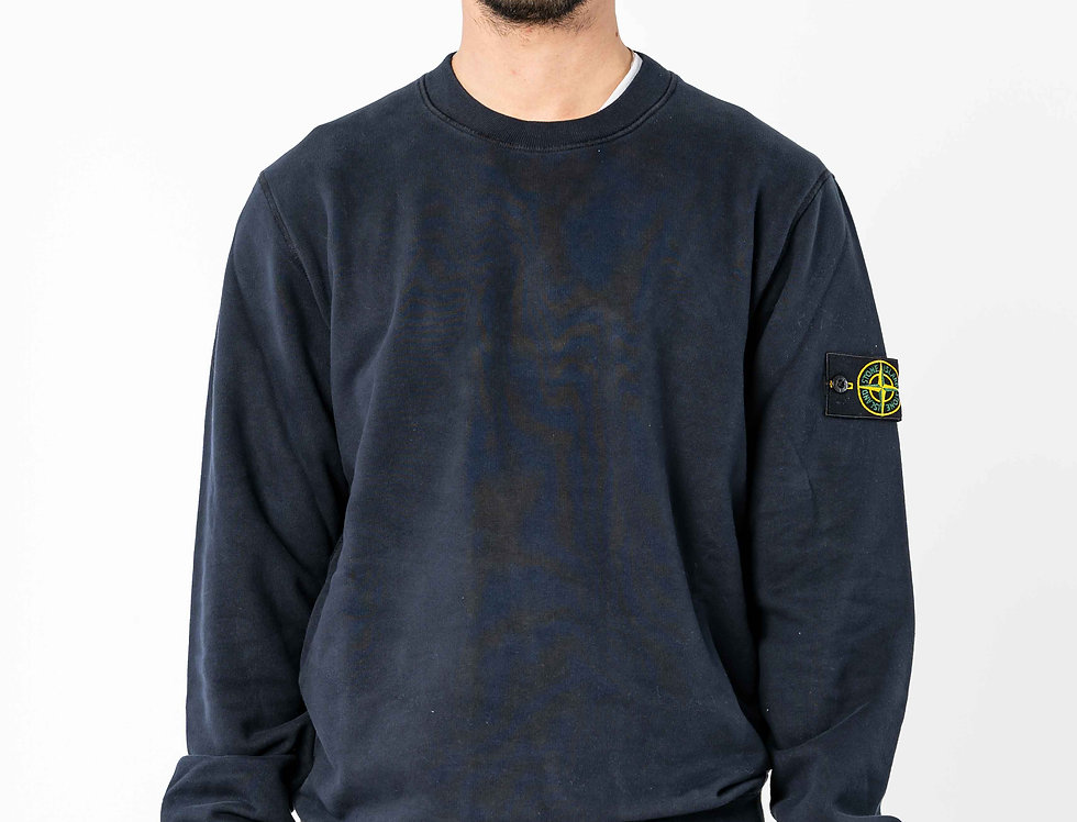 Stone Island Sweatshirt In Dark Navy