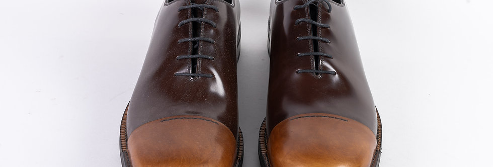 Prada Mens Brogue In Brown front view