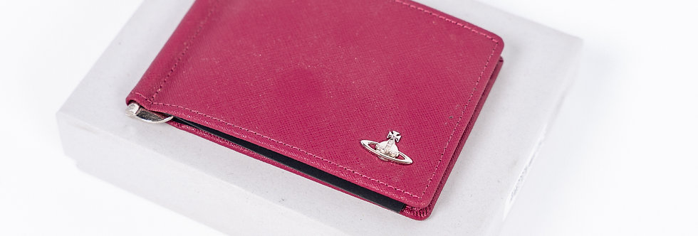 Vivienne Westwood  Money Clip Wallet In Cherry front view