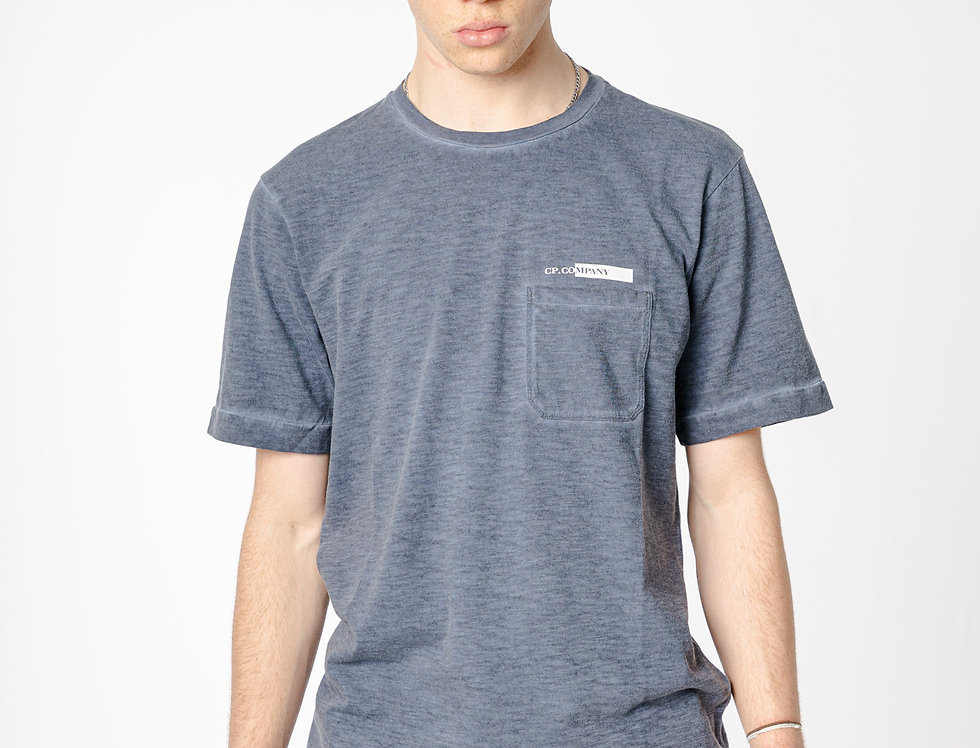 C.P. Company SS21 Re-Colour Malfile Jersey T-shirt In Navy