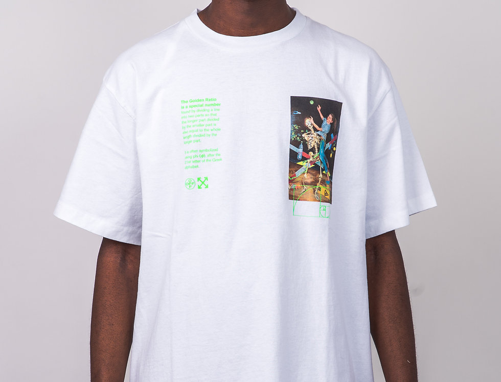 OFF-WHITE™️ Golden Ratio T-Shirt In White front view