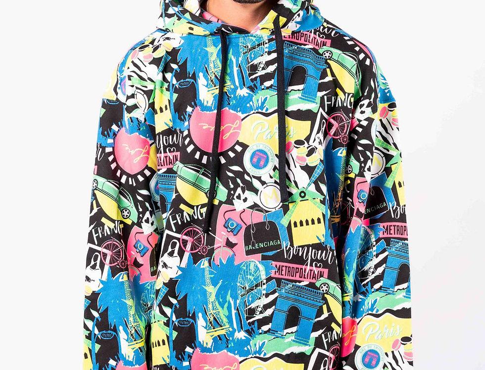 Balenciaga - Mens Hooded Sweatshirt In Multicoloured