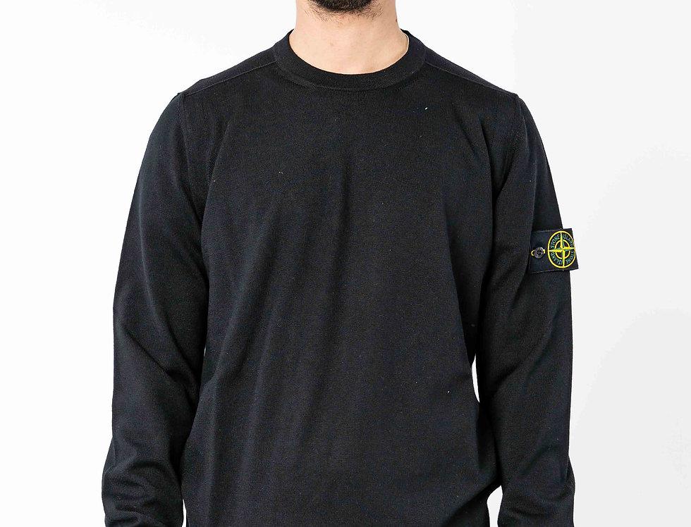 Stone Island Black Thin Knitted Sweat