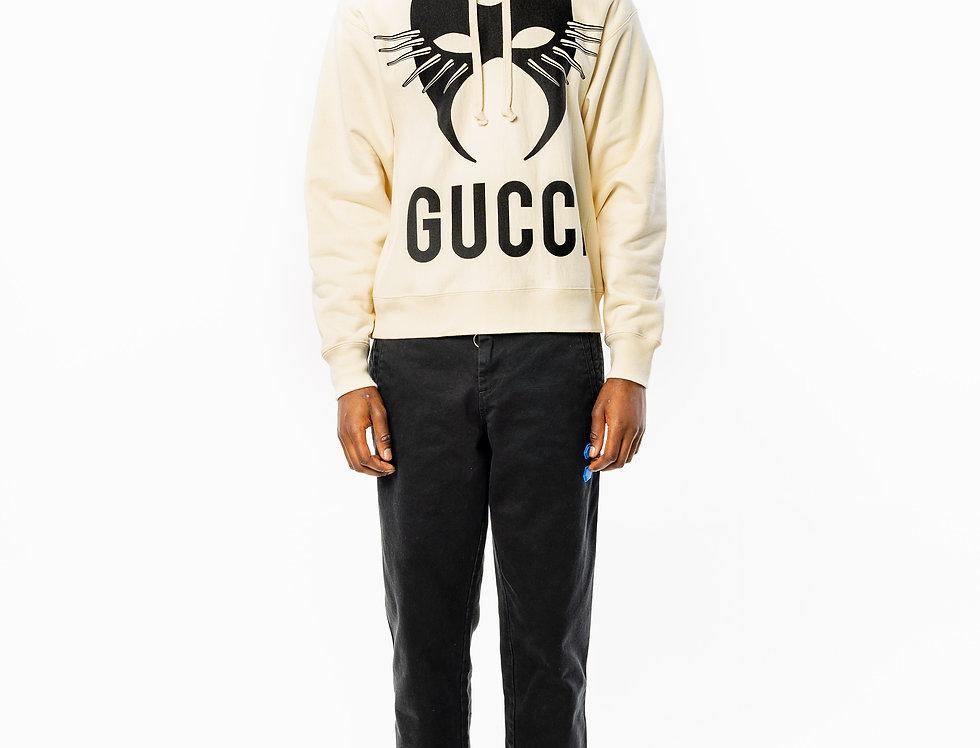 Gucci Azure Mask Print Hooded Sweat