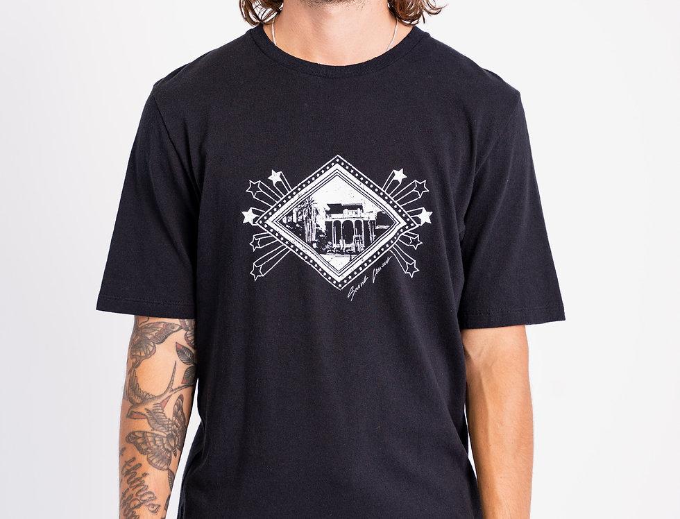 Saint Laurent Paris - Mens Graphic T-Shirt In Black front view