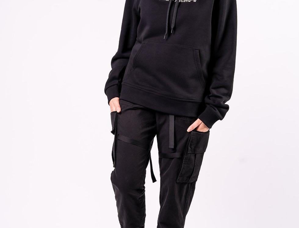Burberry - Ladies Hooded Sweatshirt In Black full view