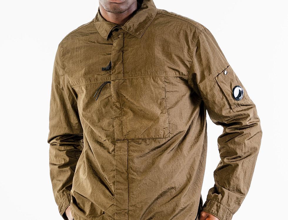 C.P. Company Nylon Overshirt In Khaki
