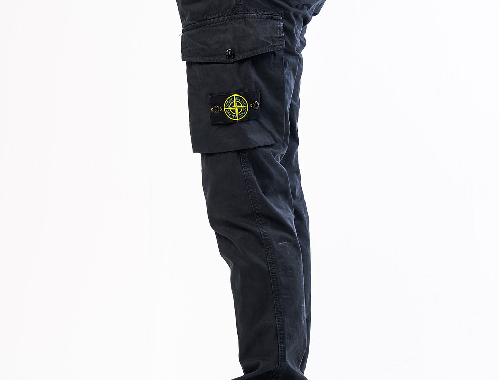 Stone Island Cargo Trousers In Navy