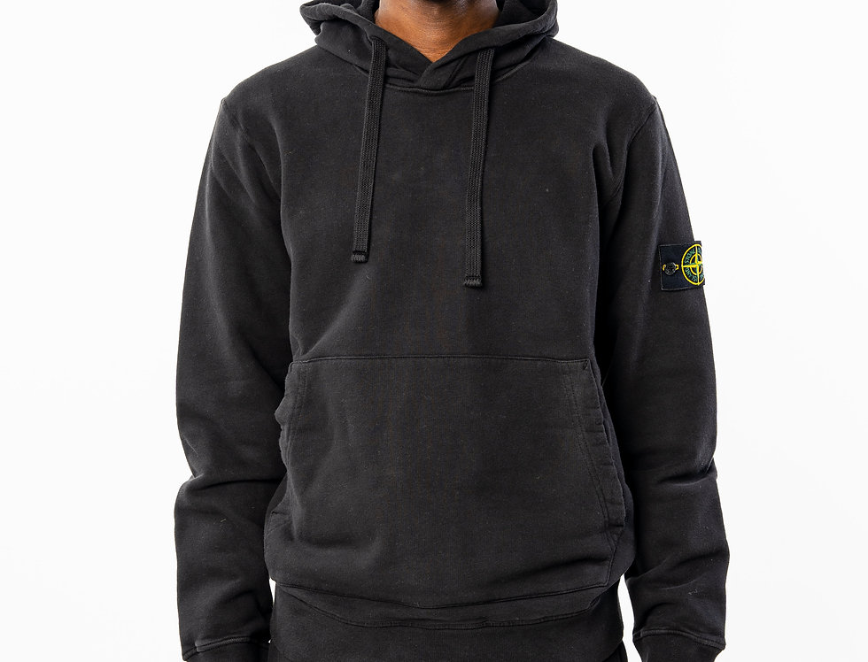 Stone Island Black Hooded Sweatshirt