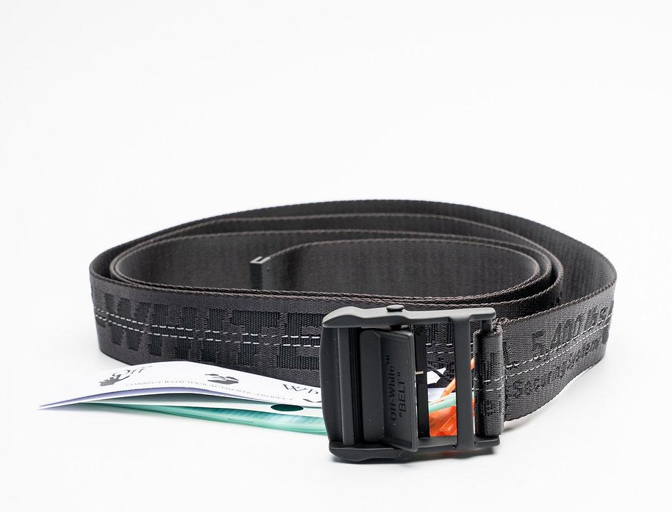 Off-White Black Branded Industrial Belt