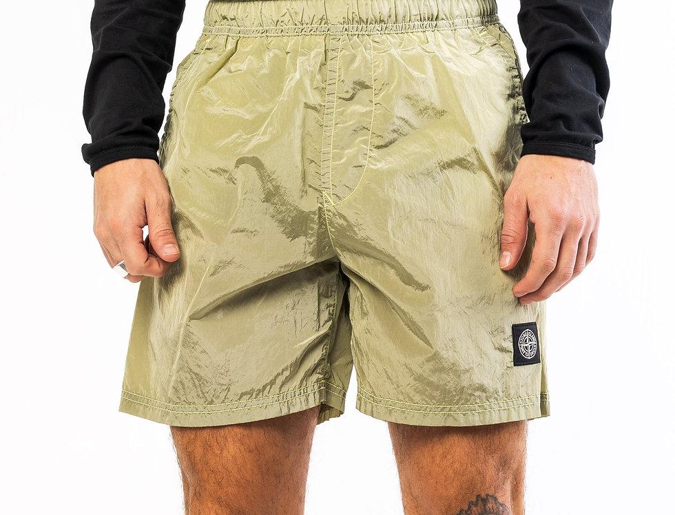 Stone Island Nylon Metal Shorts in Khaki