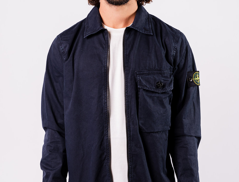 Stone Island SS20 Navy Overshirt front view
