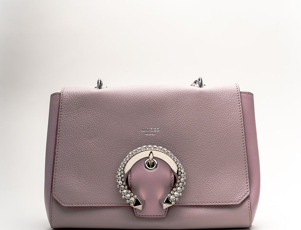 Jimmy Choo Madeline With Top Handle In Mauve Leather