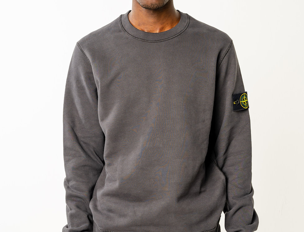 Stone Island charcoal grey crew neck sweatshirt