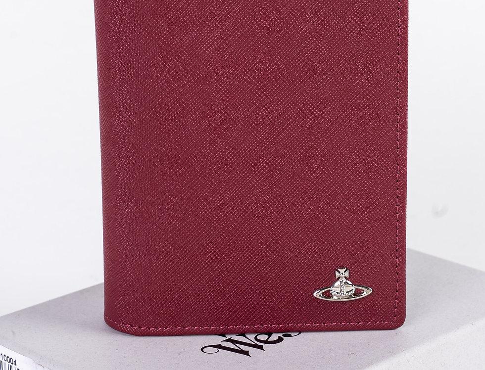Vivienne Westwood Long Burgundy Wallet front view