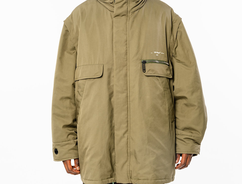 OFF-WHITE™️ AW20 Oversized Military Jacket front view