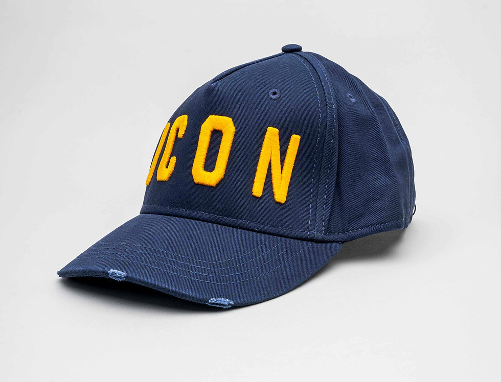 "Dsquared2 ""ICON"" Cap In Navy"