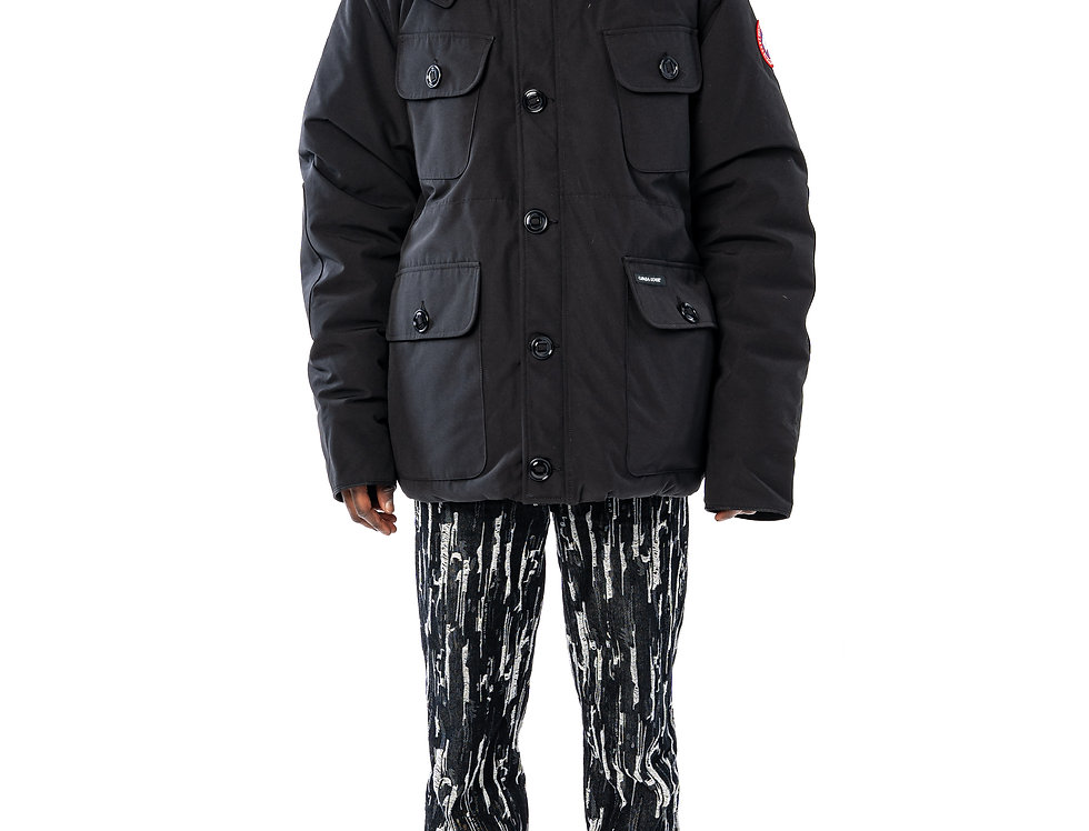 Canada Goose Selkirk Parka In Black front view