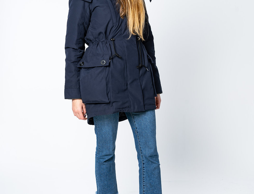 Canada Goose - Perley 3 In 1 Parka In Admiral Blue front view