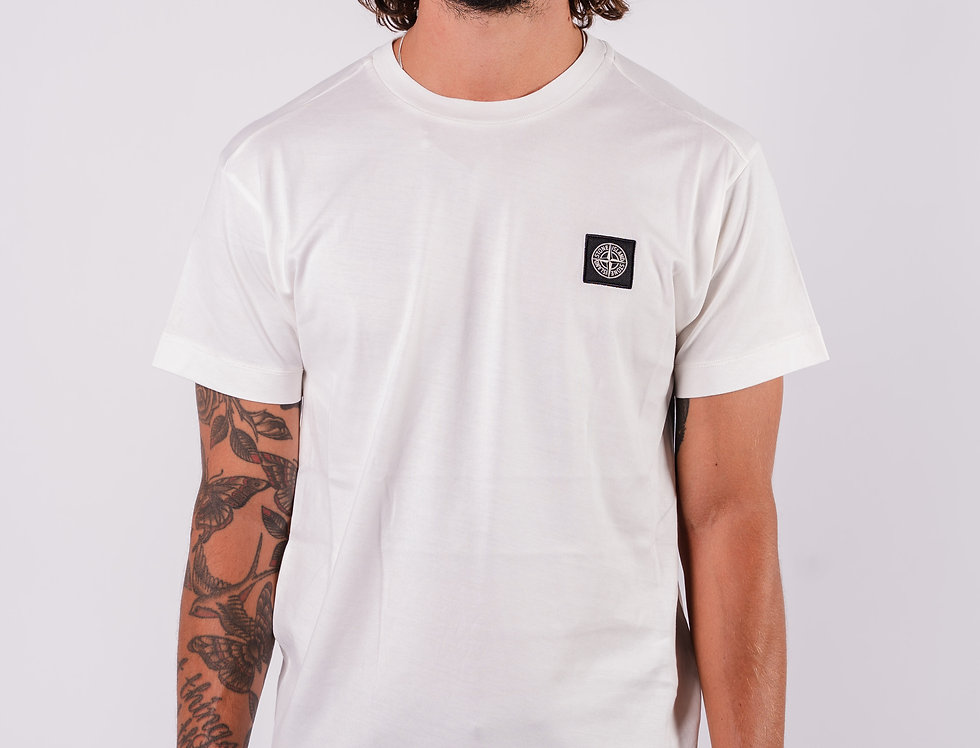 Stone Island SS20 White Compass Patch T-Shirt