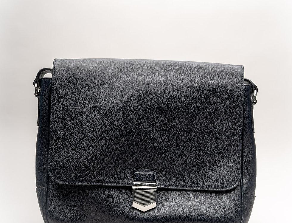 Jimmy Choo Men's Huntley Messenger Bag In Black