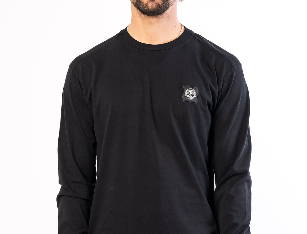 Stone Island Long-Sleeve T-shirt In Black