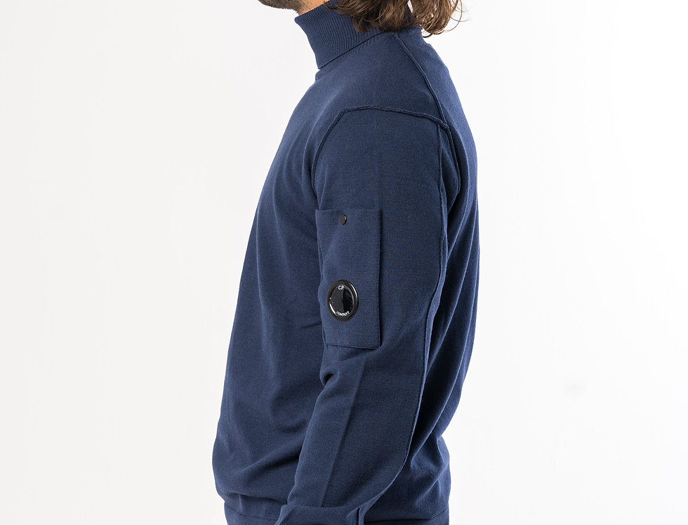 C.P. Company Roll Neck In Navy