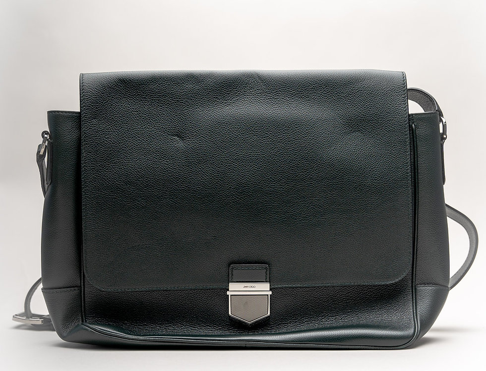 Jimmy Choo Men's Huntley Messenger Bag In Dark Green