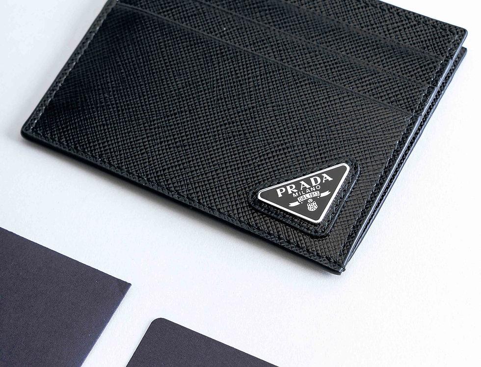 Prada Card Holder In Black