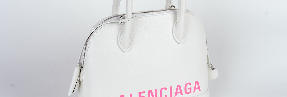 Balenciaga City Bag In White