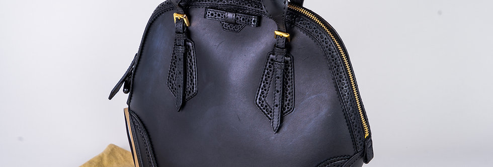 Burberry Bridle Soft Leather Bag front view