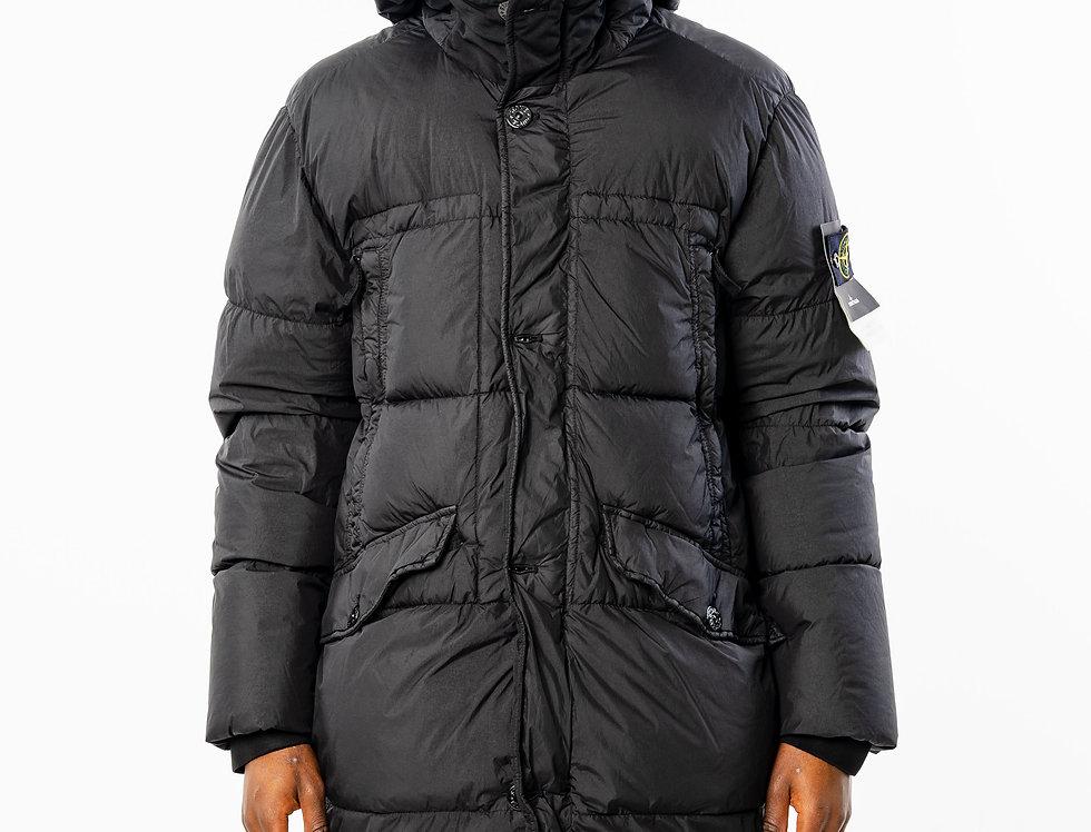 Stone Island Black Hooded Crinkle Reps Down Coat