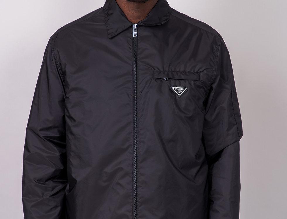 Prada Logo-Appliquéd Nylon-Gabardine Jacket front view