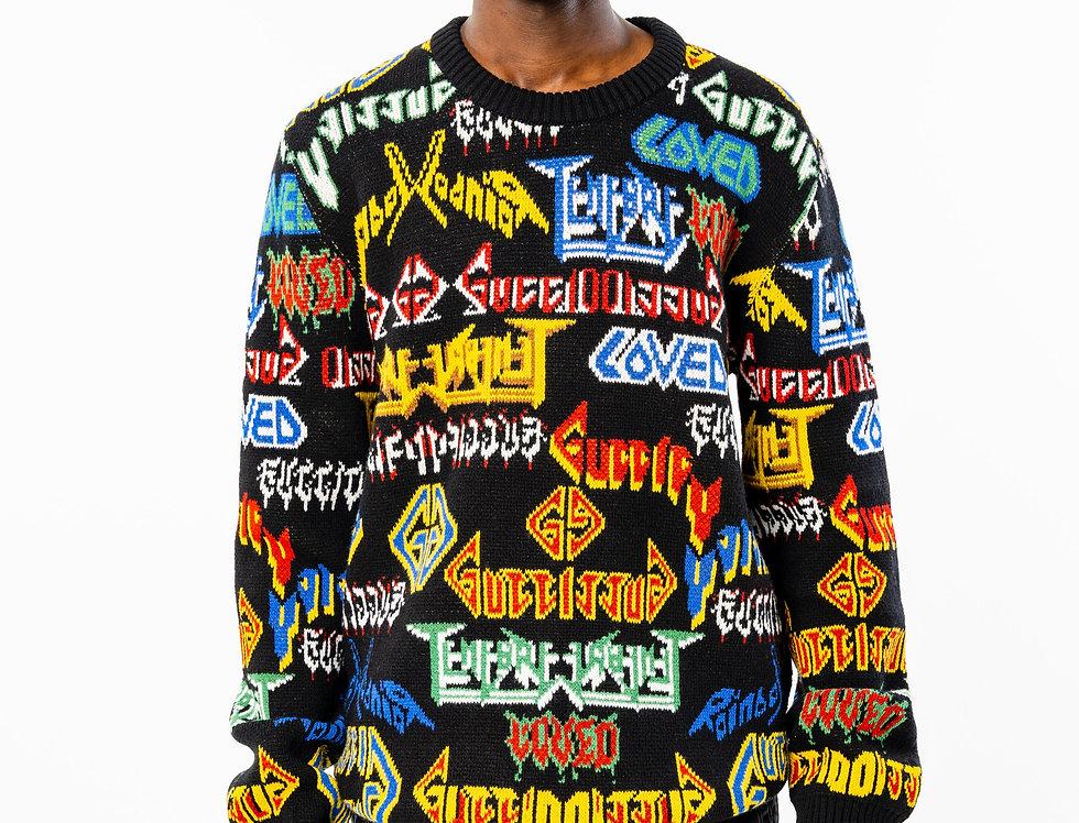Gucci Metal Mix Black Wool Sweater