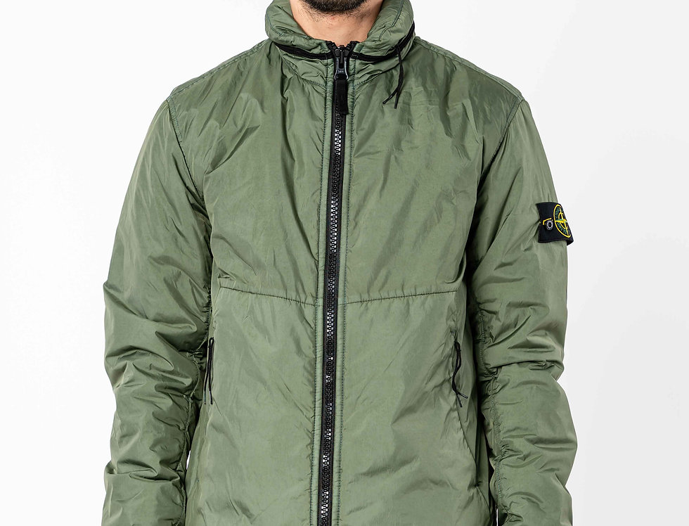 Stone Island Garment Dyed Crinkle Reps NY With Primaloft In Green