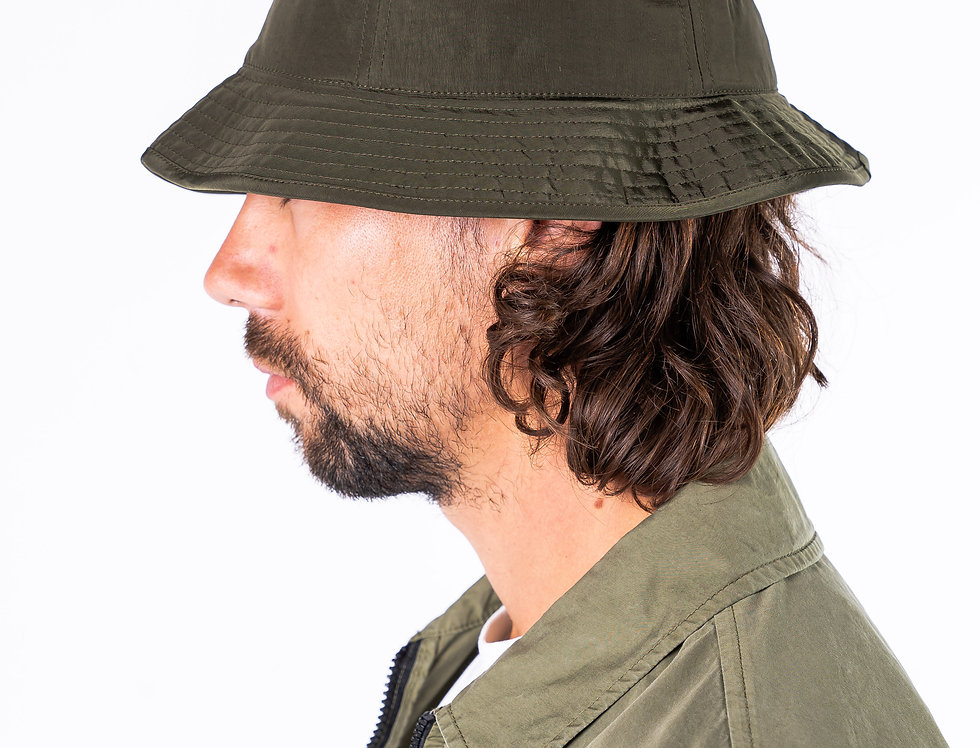 C.P. Company Green Bucket Hat side view