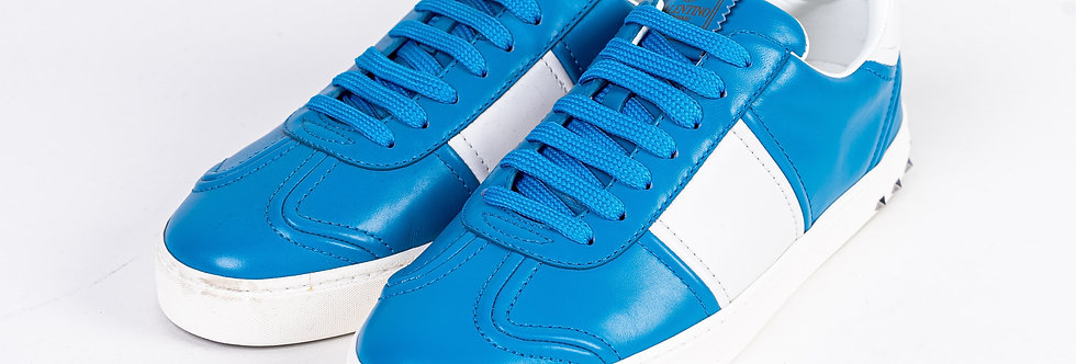 Valentino Trainer In Blue & White front view