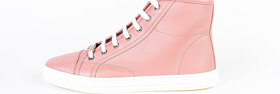 Gucci Pink High Tops side view