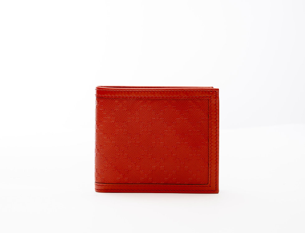 Gucci Leather Wallet In Orange