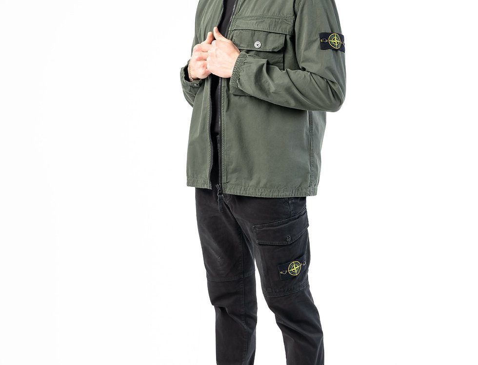 Stone Island T.CO+OLD Overshirt In Olive Green