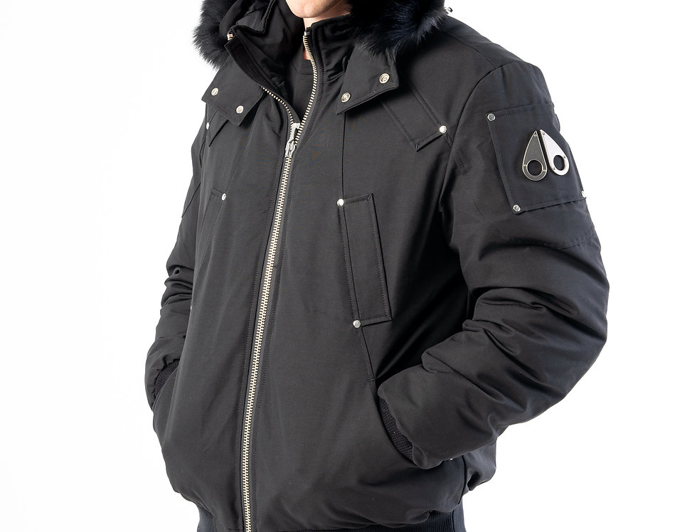 Moose Knuckles Ballistic Bomber In Black